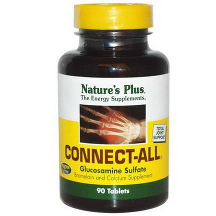 Nature's Plus, Connect-All, Glucosamine Sulfate, 90 Tablets
