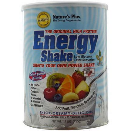 Nature's Plus, Energy Shake, The Original High Protein 756g