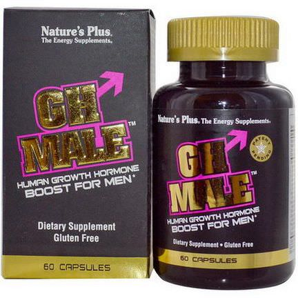 Nature's Plus, GH Male, Human Growth Hormone for Men, 60 Capsules