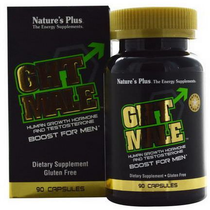 Nature's Plus, GHT Male, Human Growth Hormone And Testosterone Boost For Men, 90 Capsules