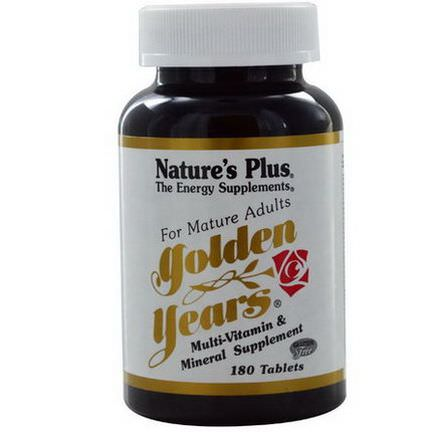 Nature's Plus, Golden Years, Multi-Vitamin&Mineral Supplement, 180 Tablets
