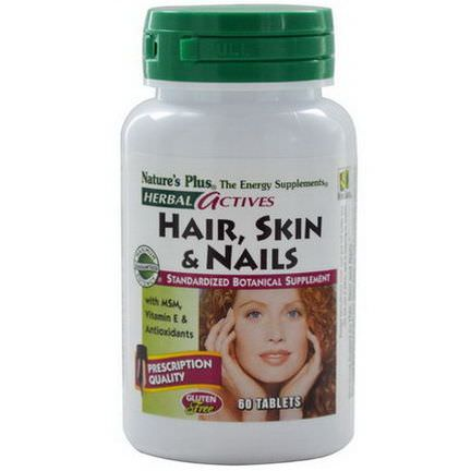 Nature's Plus, Herbal Actives, Hair, Skin&Nails, 60 Tablets