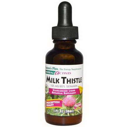 Nature's Plus, Herbal Actives, Milk Thistle, Alcohol Free, 125mg 30ml
