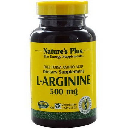 Nature's Plus, L-Arginine, 500mg, 90 Veggie Caps