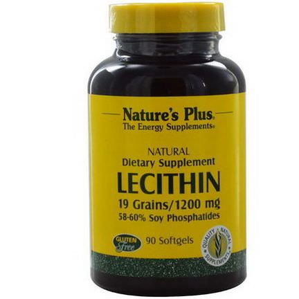 Nature's Plus, Lecithin, 1200mg, 90 Softgels