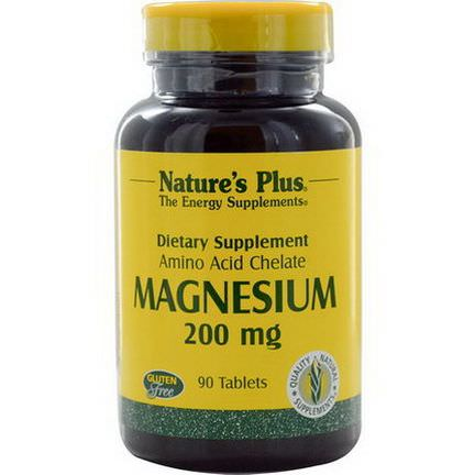 Nature's Plus, Magnesium, 200mg, 90 Tablets