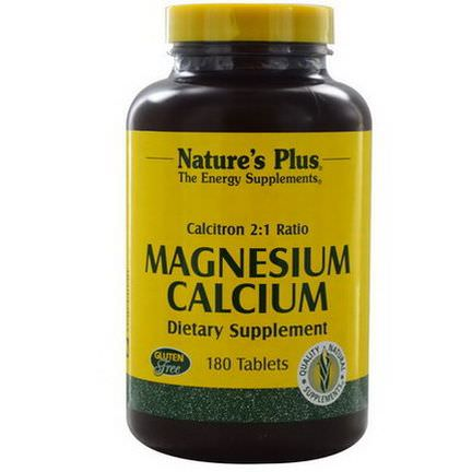 Nature's Plus, Magnesium Calcium, 180 Tablets
