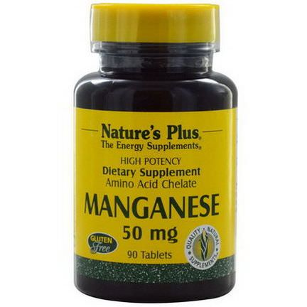 Nature's Plus, Manganese, 50mg, 90 Tablets