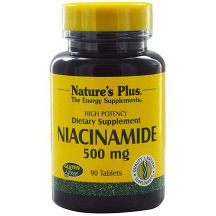 Nature's Plus, Niacinamide, 500mg, 90 Tablets