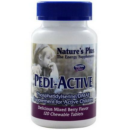 Nature's Plus, Pedi-Active, Supplement For Active Children, Mixed Berry Flavor, 120 Chewable Tablets