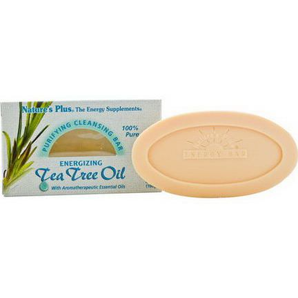 Nature's Plus, Purifying Cleansing Bar, Energizing Tea Tree Oil 100g