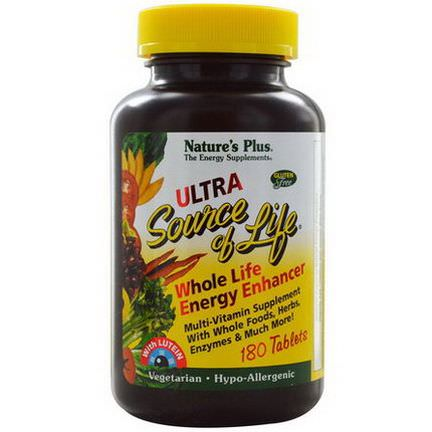 Nature's Plus, Source Of Life, Ultra Whole Life Energy Enhancer, With Lutein, 180 Tablets