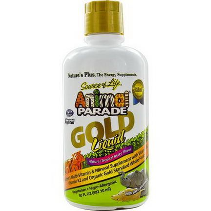 Nature's Plus, Source of Life, Animal Parade, Gold Liquid, Natural Tropical Berry Flavor 887.10ml