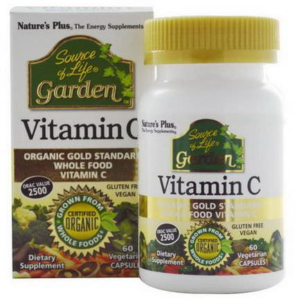 Nature's Plus, Source of Life, Garden, Vitamin C, 60 Veggie Caps