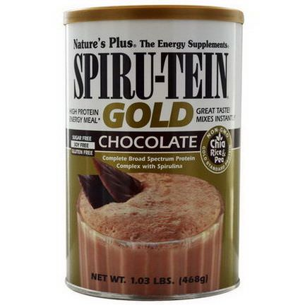 Nature's Plus, Spiru-Tein Gold, High Protein Energy Meal, Chocolate 468g
