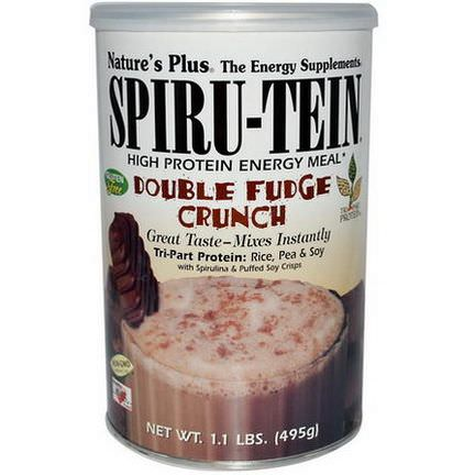 Nature's Plus, Spiru-Tein, High Protein Energy Meal, Double Fudge Crunch 495g