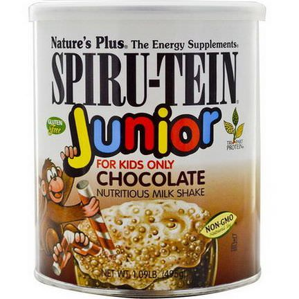 Nature's Plus, Spiru-Tein Junior, Nutritious Milk Shake, Chocolate 495g
