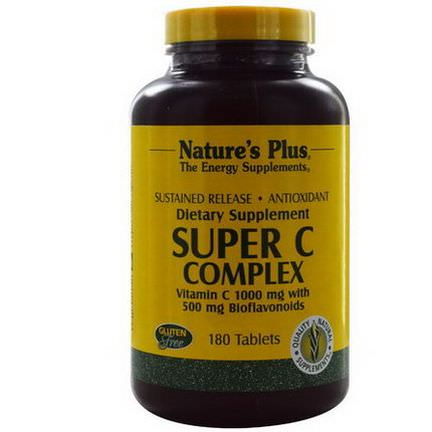 Nature's Plus, Super C Complex, Vitamin C 1000mg with 500mg Bioflavonoids, 180 Tablets
