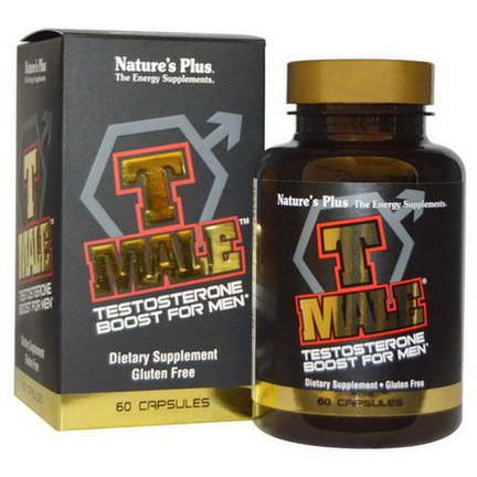 Nature's Plus, T Male, Testosterone Boost For Men, 60 Capsules