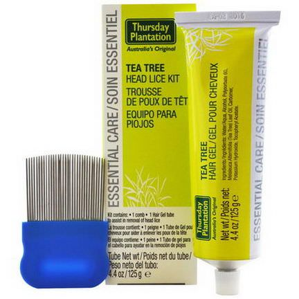 Nature's Plus, Thursday Plantation, Australia's Original, Tea Tree Head Lice Kit, 2 Piece Kit 125g