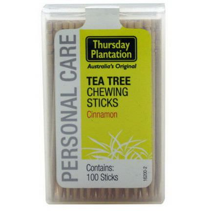 Nature's Plus, Thursday Plantation, Tea Tree Chewing Sticks, Cinnamon, 100 Sticks