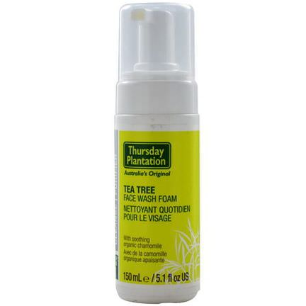 Nature's Plus, Thursday Plantation, Tea Tree Face Wash Foam 150ml