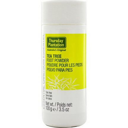Nature's Plus, Thursday Plantation, Tea Tree Foot Powder 100g