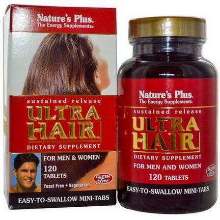 Nature's Plus, Ultra Hair, Sustained Release, For Men&Women, 120 Tablets