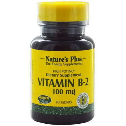 Nature's Plus, Vitamin B-2, 100mg, 90 Tablets
