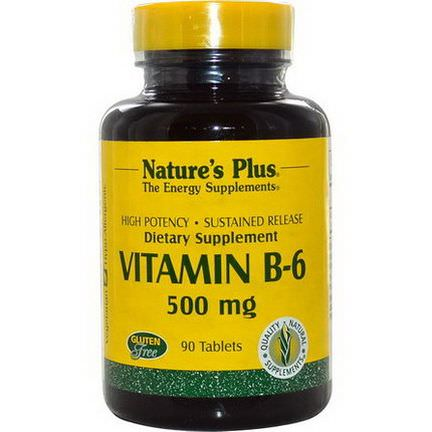 Nature's Plus, Vitamin B-6, 500mg, 90 Tablets