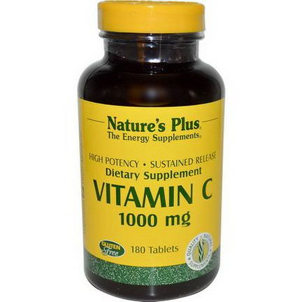 Nature's Plus, Vitamin C, 1000mg, 180 Tablets