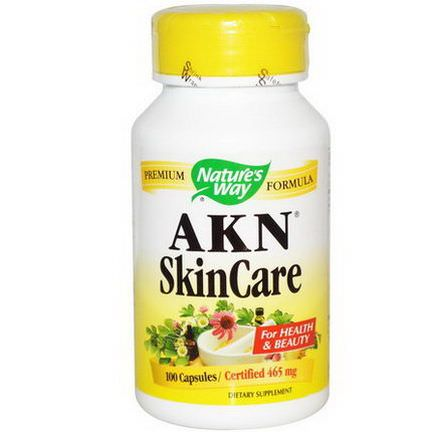 Nature's Way, AKN SkinCare, 100 Capsules