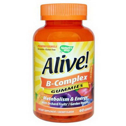 Nature's Way, Alive! B-Complex, Cherry Flavor, 60 Gummies
