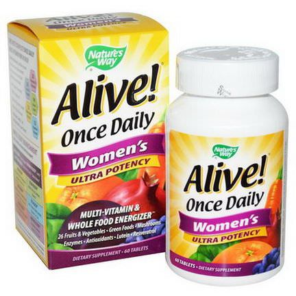 Nature's Way, Alive! Once Daily Women's Multi-Vitamin, 60 Tablets
