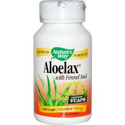 Nature's Way, Aloelax with Fennel Seed, 530mg, 100 Vcaps