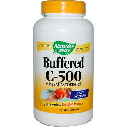 Nature's Way, Buffered C-500, 250 Capsules