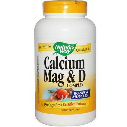 Nature's Way, Calcium Mag&D Complex, 250 Capsules