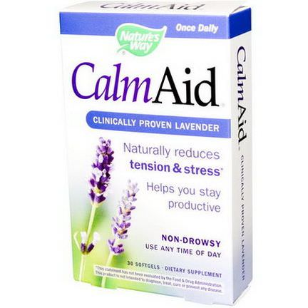 Nature's Way, Calm Aid, Clinically Proven Lavender, 30 Softgels
