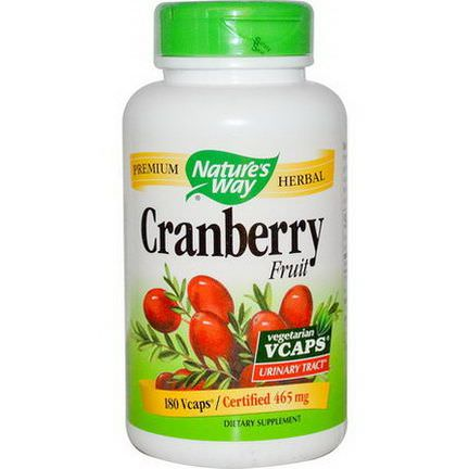 Nature's Way, Cranberry Fruit, 465mg, 180 Vcaps