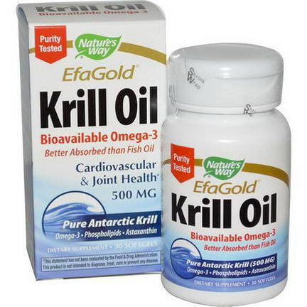 Nature's Way, EfaGold, Krill Oil, 500mg, 30 Softgels