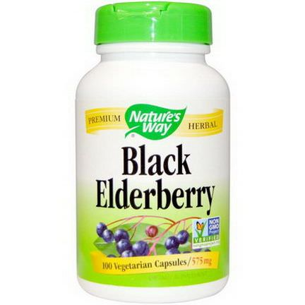 Nature's Way, Black Elderberry, 575mg, 100 Veggie Caps