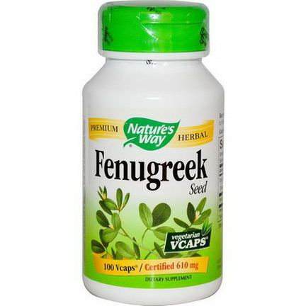 Nature's Way, Fenugreek Seed, 610mg, 100 Vcaps