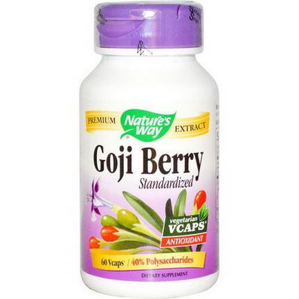 Nature's Way, Goji Berry, Standardized, 60 Vcaps