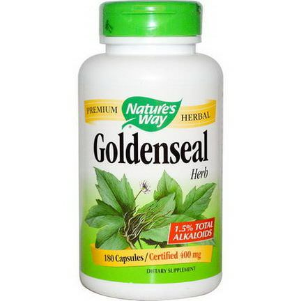 Nature's Way, Goldenseal, Herb, 400mg, 180 Capsules