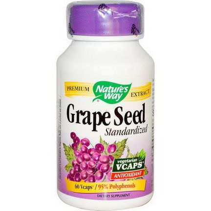 Nature's Way, Grape Seed, Standardized, 60 Vcaps
