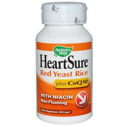 Nature's Way, HeartSure, Red Yeast Rice, Plus CoQ10, 60 Vcaps