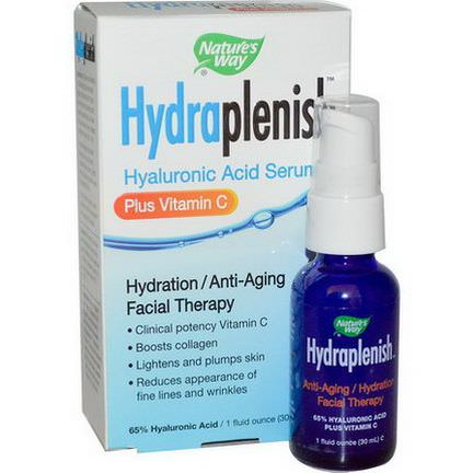 Nature's Way, Hydraplenish, Hyaluronic Acid Serum, Plus Vitamin C 30ml