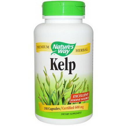 Nature's Way, Kelp, 600mg, 180 Capsules