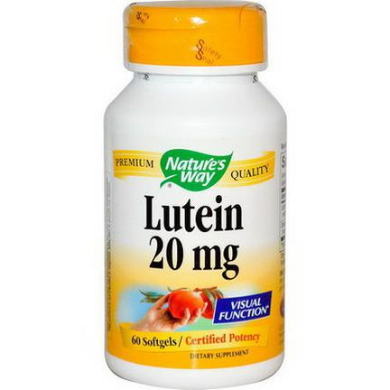Nature's Way, Lutein, 20mg, 60 Softgels