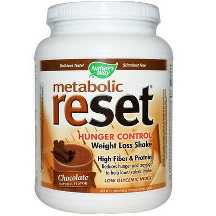 Nature's Way, Metabolic Reset, Hunger Control, Weight Loss Shake, Powder, Chocolate 630g